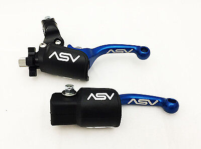 ASV F3 Unbreakable Adjustable Red Brake Clutch Levers Pair Pack KX 250F 450F