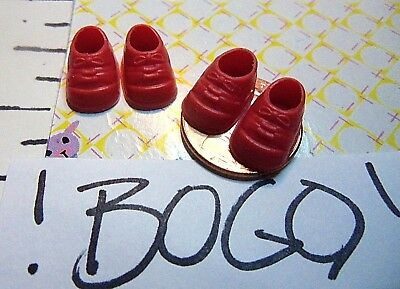 Krissy Happy Family Kiddle Doll Clothes 2 Red Mini Shoes BOGO LOOK 10 Pics/READ 2