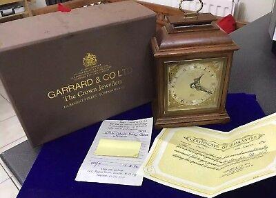 Vintage Garrard & Co Ltd London Elliot Mahogany 8 Day Oak Mantle Carriage Clock 8