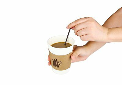 100 Pack 12 Oz Disposable Hot Paper Coffee Cups Lids Sleeves Stirrers 400 Pieces 5