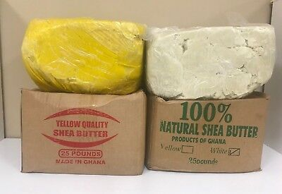100% RAW AFRICAN SHEA BUTTER Unrefined Organic Pure GHANA Choose SIZE And COLOR 2