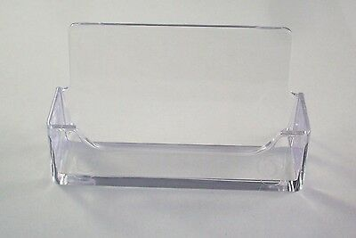 Lot of 12 pack clear acrylic plastic business card holder display 3 of 4 lot of 12 pack clear acrylic plastic business card holder display colourmoves