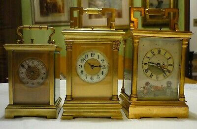 ANTIQUE  SEMI GIANT FRENCH  REPEATER CARRIAGE CLOCK by ARSENE MARGAINE 2