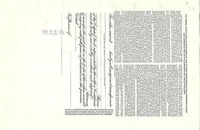 PA/NJ/DE, Wilson Line Inc. Stock Certificate, 1952, 10 Shares, ABN, Ferry Line