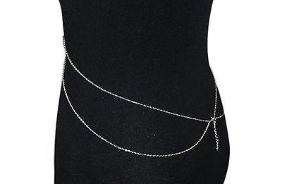 Bauchkette Kette Halskette Y-Kette silber gold Blogger Körperkette Bikini Body