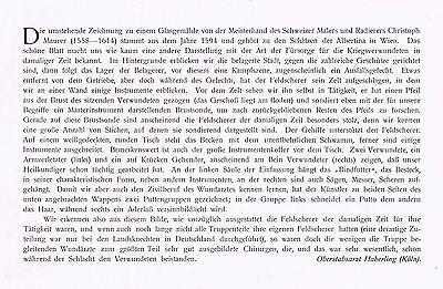 Kunstbeilage Medizinische Wochenschrift  1912 No. 5  Der Feldscherer