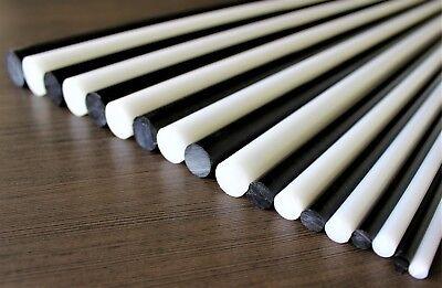 Acetal POM-C Plastic Round Bar Rod WhiteDiameter 25mmLenght 246mm