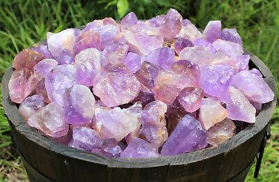 "1 Large 1"" - 2"" Rough Amethyst (Brazil) Natural Gemstone Crystal Healing Rock 2"