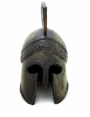 Ancient Greek Bronze Museum Replica Vintage Athenian Battle Helmet Collectable 3