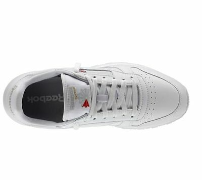REEBOK CLASSIC LEATHER White Grey 9771 MENS CLASSIC RUNNING SHOES 3