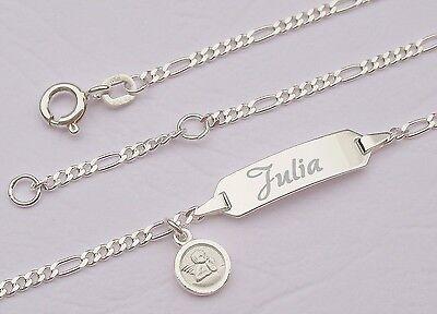 Taufarmband Namen Gravur Geburts Armband Schutzengel Engel Taufe Baby Armkette