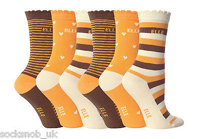 6 Pair Pack YE04 Girls Young Elle Ankle Socks, Various Colours, All Sizes 2