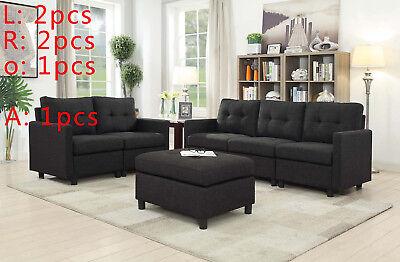 5 SEAT CONTEMPORARY Sofa Set Modern Sectional Sofa Living ...