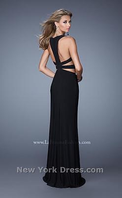 21106 Lafemme Black Cutout Party Evening Formal Prom Gown Dress Size USA 2 3