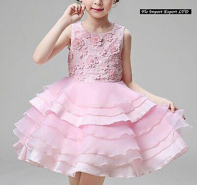 ... Vestito Bambina Abito Cerimonia Fiori Elegante Girl Party Princess  Dress CDR060 7 4c6ac938daf
