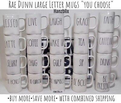 "Rae Dunn SUGAR CREAM SCOOP POUR SOY Sugar Creamer ""YOU CHOOSE New '18-20' 3"