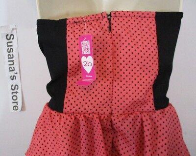 New bebe SEXY STRAPLESS PEPLUM DRESS SIZE S Captivating Coral color Peplum dress 6