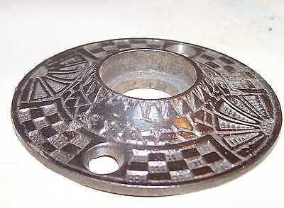Antique Victorian Door Knob Key Plate Bronzed Cast Iron Fancy Eastlake Hardware 9