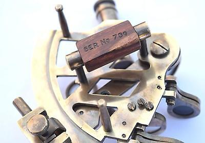 Solid Brass Marine Sextant Astrolabe Antique Reproduction Maritime Nautical Ship 2