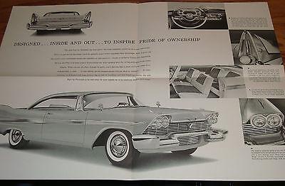/'58 SALES CATALOG 1958 PLYMOUTH FURY VINTAGE ORIGINAL SHOWROOM BROCHURE