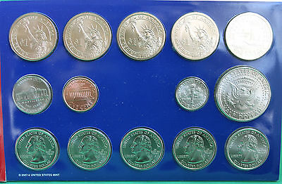 2008 P and D United States Mint ANNUAL Uncirculated Coin Set 28 BU Coins and COA 4