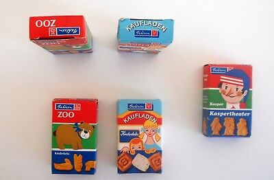 Sortiment Pappschachteln für Kaufmannsladen Bahlsenkeks Zoo Kasper Kaspertheater 4