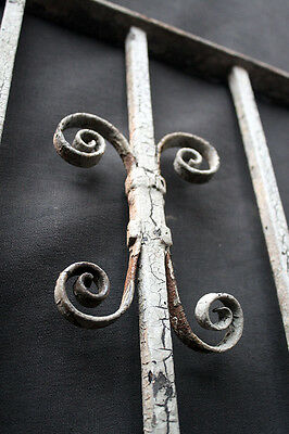 57x15 Antique Vintage Steel Iron Metal Fence Gate Door Panel Window Guard Grille 6