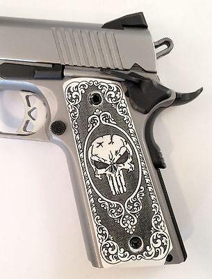 1911 grips custom engraved