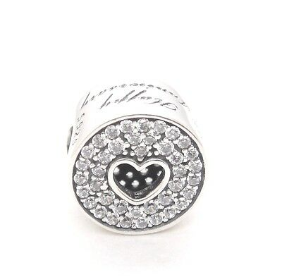 4d467171c ... Authentic Pandora Sterling Silver 791977CZ Anniversary Celebration Charm  Bead