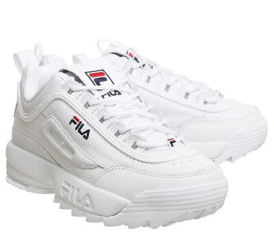 Originale FILA Disruptor II 2 zapatos auténticos blancos unisex Tamaño 35-44 2