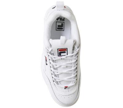 Originale FILA Disruptor II 2 zapatos auténticos blancos unisex Tamaño 35-44 9