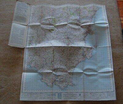 Vintage 1946 'Torquay Ordnance Survey One Inch Map/Poster on Cloth 4