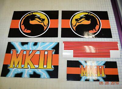 Arcade1up Cabinet Riser Graphics - Mortal Kombat 2 II Graphic Sticker Decal Set 4