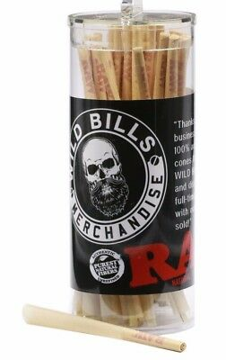 RAW Classic Lean Size Pre-Rolled Cones (100 Pack) + Raw Packing Sticks free TUBE 2
