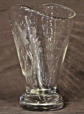 Big mid century Scandinavian art deco vase signed Julie engraved ornate antique 2