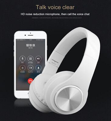 Wireless Bluetooth Headphones Foldable Stereo Earphones Super Bass Headset Mic 11