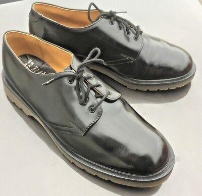 Dr Martens 1462 black leather shoes UK 10.5 EU 45.5 Made in England 3
