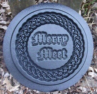 Celtic knot thistle mold plaque plastic mould for plaster concrete casting