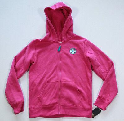 Neu All Star Converse Mädchen Girls Sport Hoodie Kapuzen Sweater Jacke pink 4
