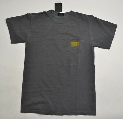 Stussy CLASSIC ROOTS PIGMENT DYED POCKET TEE Black Faded S//S Men/'s Shirt D