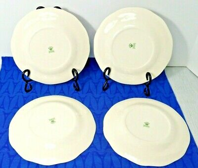 "LOT of 4 Mason's Oak Fruit Center Embossed Edge 8"" Salad Plates. England 4"