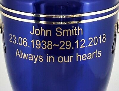 Human Casket Urn for Ashes Memorial Cremation Funeral Personalised Inscription 11