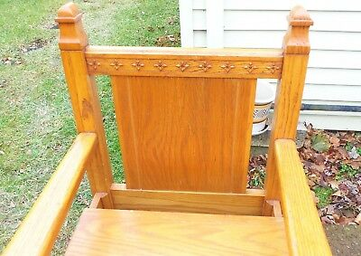 "Solid Oak ""Bishops Chair"" 5"