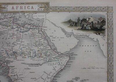 Original antique map AFRICA, MADAGASCAR, Tallis, Rapkin, c.1851