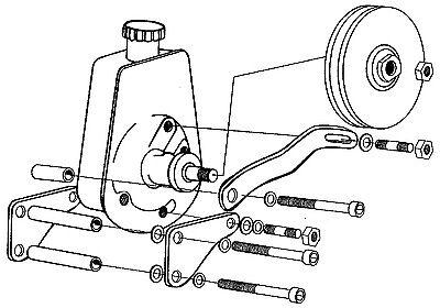 283 327 350 383 406 Chevy Smallblock Power Steering Pump Brackets