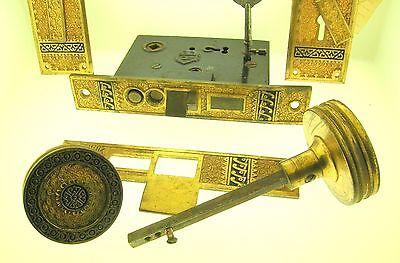 C.1883 Mansion Gilded Bronze Door Lock Set - Rare - Fantastic Quality - B. Offer 2