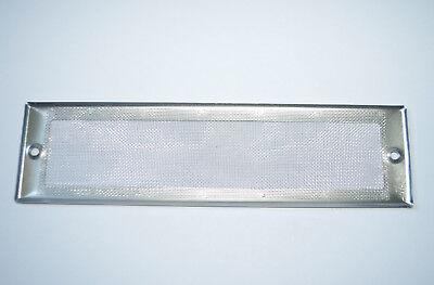 Grille Aération Rectangulaire 212mm x 57mm inox Epaisseur 0.8mm