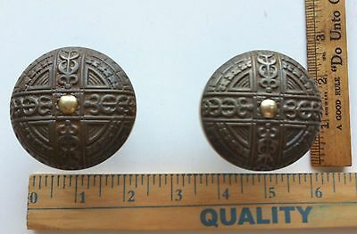 Antique Victorian Era Door Lock Knobs Very Ornate NICE ONES 2