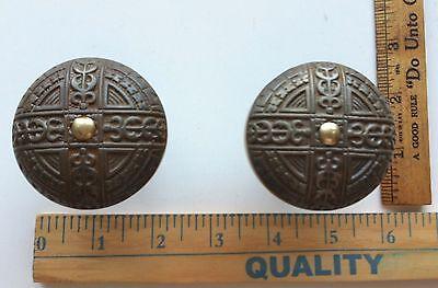 Antique Victorian Era Door Lock Knobs Very Ornate NICE ONES 2