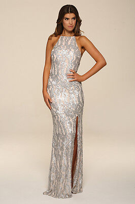 ... Honor Gold Harley Sequin Maxi Evening Dress Backless Design Long Ball  Prom Gown 7 7da798750
